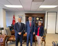 Mr. Zelgai Sajad the Consul General of the Islamic Republic of Afghanistan in New York met with Mr. Reyhan Özgür the Consul General of Republic of Turkey.