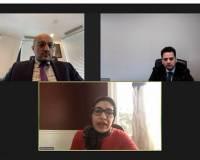 The Consul General Mr. Sajad, virtually met with Ms. Wazma Wardak Hassan