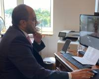 Mr. Zelgai Sajad the Consul General of the I. R. of Afghanistan in New York attended a virtual meeting