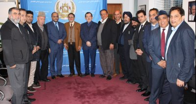 Mr. Zelgai Sajad Consul General of the Islamic Republic of Afghanistan in New York, met with Afghan businessmen living in New York at the consulate today.