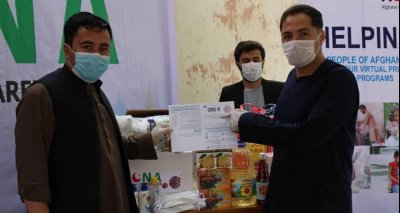 Afghans of North America Foundation in New York State, used cash donations to provide food supplies to Afghans in Afghanistan.