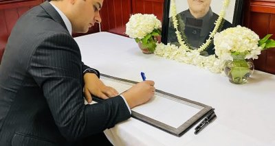 Mr. Mohammad Osman Ahmady second secretary of Afghanistan Consulate General in New York signed a book of condolences