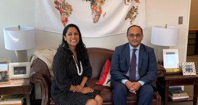 Mr. Zelgai Sajad Consul General of Islamic republic of Afghanistan in New York met Ms. Penny Abeywardena New York City's Commissioner for International Affairs.
