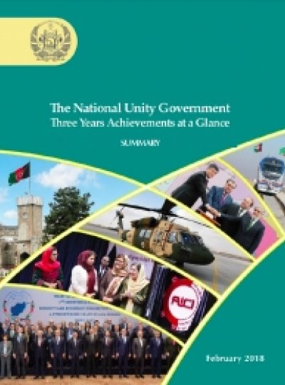 3 Years of Afghanistan's National Unity Government Achievement at a Glance